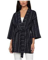 BCBGMAXAZRIA Striped Kimono - Blue