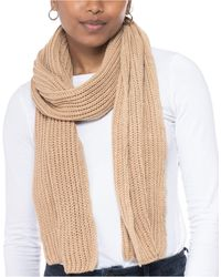 Style & Co. Solid Ribbed Muffler Scarf, Created For Macy's - Natural