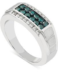 Macy's - Men's Diamond (1 Ct. T.w.) Ring In 10k White Gold - Lyst