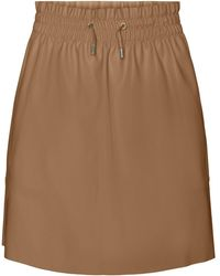 Vero Moda Vmava Coated Skirt - Brown
