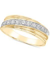 Macy's - Diamond Diagonal Band (1/2 Ct. T.w.) In 10k Gold - Lyst