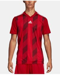 adidas Striped Soccer Jersey - Red