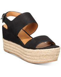 DV by Dolce Vita Venice Platform Wedge Sandals - Black