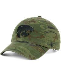 47 Brand - Kansas State Wildcats Regiment Clean Up Strapback Cap - Lyst