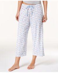 Hue Icy Margarita Knit Capri Pajama Pants - White