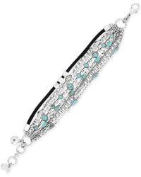Lucky Brand - Mini Turquoise Stone Layer Line Bracelet - Lyst