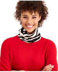 Charter Club Cashmere Zebra Gaiter Facemask, Created For Macy's - Red