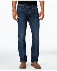 Tommy Hilfiger Men's Straight-leg Dark Wash Jeans - Blue