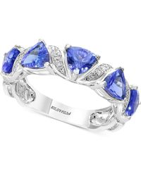 Effy Collection Tanzanite Royalé By Effy® Tanzanite (1-9/10 Ct. T.w.) & Diamond Accent Ring In 14k White Gold - Metallic