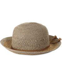 Nine West Mixed Braid Cloche Hat - Brown