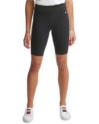 Tommy Hilfiger High Rise Bike Short With Color Blocking - Black