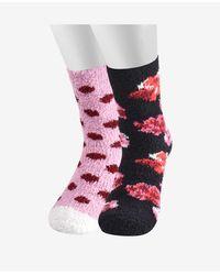 Kate Spade Enchanted Stripe Crew Socks, 2 Pair - Multicolor