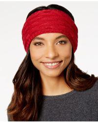 Echo - Fleece-lined Cable-knit Headband - Lyst