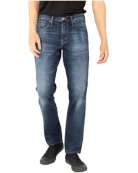 Silver Jeans Co. Dark Eco-friendly Wash Straight Leg Jeans - Blue