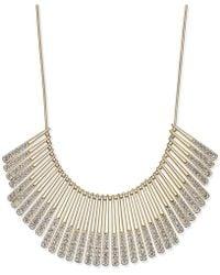 INC International Concepts Gold-tone Pavé Statement Necklace - Metallic