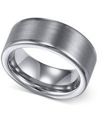 Macy's - Men's Tungsten Ring, 8mm Wedding Band - Lyst