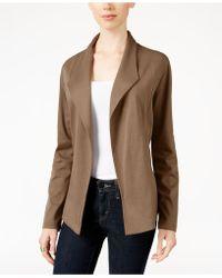 Style & Co. - Open-front Long-sleeve Blazer - Lyst