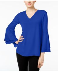 Alfani - Petite Bell-sleeve Blouse, Created For Macy's - Lyst