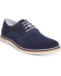 Steve Madden Frick Suede Plain-toe Lace-up Oxfords - Blue