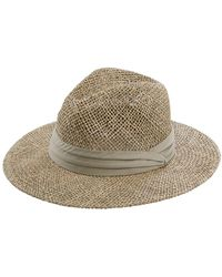 San Diego Hat Company Seagrass Panama Fedora - Green