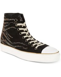 Roberto Cavalli | Studded Suede High-top Trainers | Lyst