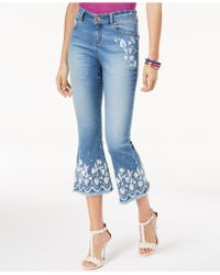 INC International Concepts - I.n.c. Petite Embroidered Cropped Jeans, Created For Macy's - Lyst