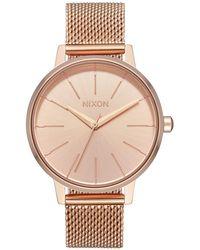 Nixon - Kensington Milanese Stainless Steel Mesh Bracelet Watch 37mm - Lyst