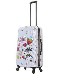 "Halina Nikki Cu Watever 24"" Hard Side Spinner Suitcase - Multicolour"