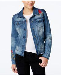 Vintage America - Embroidered Denim Jacket - Lyst