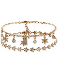 Lonna & Lilly Gold-tone 2-pc. Set Flower Anklets - White