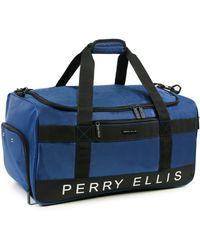 """Perry Ellis A222 22"""" Weekender Bag - Blue"""