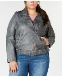 Levi's - ® Plus Size Faux-leather Belted Moto Jacket - Lyst