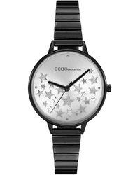 BCBGeneration Ladies 3 Hands Slim Black Stainless Steel Bracelet Watch, 34 Mm Case
