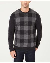 Barbour - Wool Buffalo Plaid Sweater - Lyst