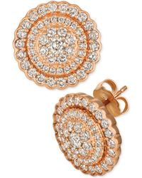 Le Vian - Strawberry & Nudetm Diamond Circle Cluster Stud Earrings (1-3/8 Ct. T.w.) In 14k Rose Gold - Lyst