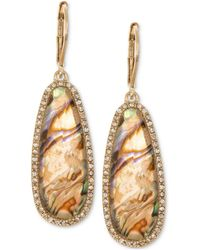Lonna & Lilly - Gold-tone Iridescent Stone Drop Earrings - Lyst