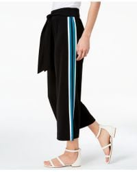 INC International Concepts - I.n.c. Varsity-stripe Cropped Wide-leg Pants, Created For Macy's - Lyst