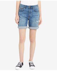 Calvin Klein Jeans - Distressed Denim City Shorts - Lyst