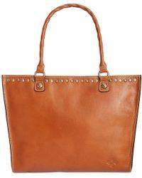 Patricia Nash Zancona Smooth Leather Tote - Brown