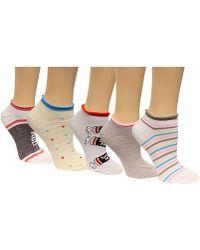 Disney Women's 6-pk. Assorted Candy No-show Socks - White