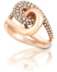 Le Vian ® Knotstm Vanilla Diamonds® (3/4 Ct. T.w.) Ring In 14k Rose Gold - Metallic