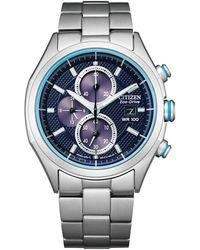 Citizen - Chronograph Stainless Steel Bracelet Watch 41mm - Lyst