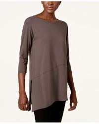Eileen Fisher - Stretch Jersey Asymmetrical-hem Tunic, Regular & Petite - Lyst