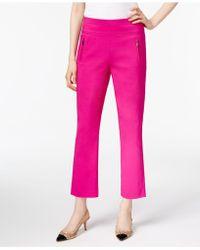 INC International Concepts - Cropped Straight-leg Pants - Lyst