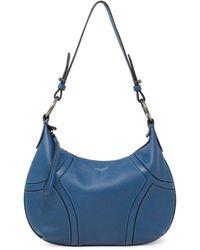 T Tahari Devon Leather Hobo - Blue