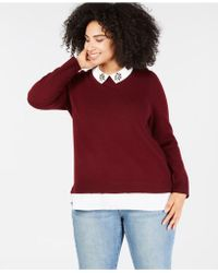 Charter Club - Plus Size Cashmere Layered-look Sweater, Created For Macy's - Lyst