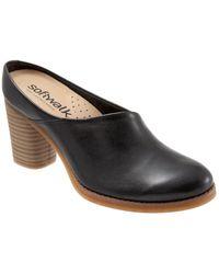 Softwalk Keya Slip-on Mules - Black