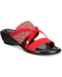 Easy Street - Palazzo Wedge Sandals - Lyst