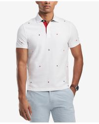 Tommy Hilfiger - Classic Fit Embroidered H Logo Polo, Created For Macy's - Lyst