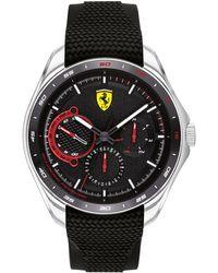 Ferrari Speedracer Black Silicone Strap Watch 44mm